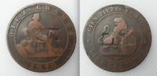 Contador de 1870 diez CENTIMOS-Coleccionable Estampado E
