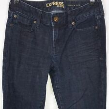 EXPRESS Eva Fit & Flare Jeans 2r Women's Dark Blue Mid-Rise Stretch Inseam 31