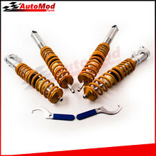 Lowering Suspension Coilover Kit fits VW MK2 / MK3 GOLF and JETTA Orange Struts