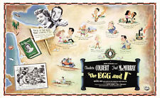 The egg and I Claudette Colbert vintage movie poster print