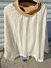 MOTHERHOOD MATERNITY Brand New Poncho SKIRT Lace & Lined Womens Sz S 👗gn1-m12