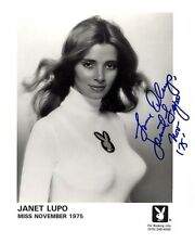 Janet Lupo Playmate Miss November 1975 Autographed 8 x 10 Signed Photo Playboy