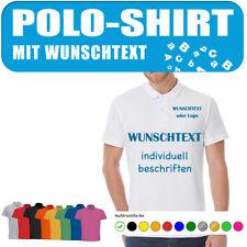 Polo Shirt selbst gestalten und mit Wunschtext beschriften - 2-seitig möglich