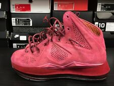 Nike LeBron X 10 EXT Pink Custom Size 7 Suede Red