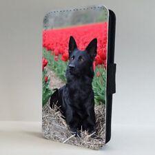 Black German Shepherd Dog FLIP PHONE CASE COVER for IPHONE SAMSUNG