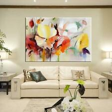 Wall Painting Modern Water Color Poppy Flowers Canvas Picture Living Room Decor