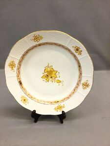 """Herend Yellow Chinese Bouquet 10"""" Rimmed Soup Bowl"""