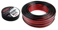 """100' FT 16 GA Gauge Red Black Speaker Wire with 3/4"""" x 60' Feet Electrical Tape"""