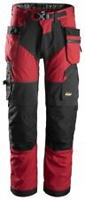 SNICKERS WORK TROUSERS 6902 FLEXIWORK + WITH HOLSTER POCKETS CORDURA (CHILI RED)