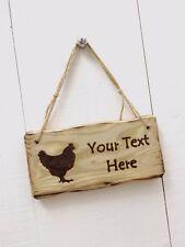 Driftwood Style Shabby Chic Custom Made Wooden Chicken Coop Run Garden Pet Sign