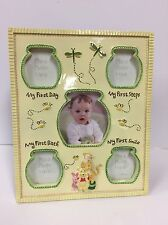 """DISNEY BABY Winnie the Pooh My First Steps Smile Day Baby Frame 11""""X8.5"""" (N257)"""