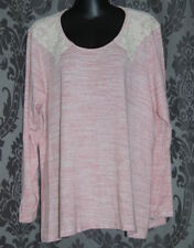 Womens size 14 pink stretchy long sleeved top made by AUTOGRAPH