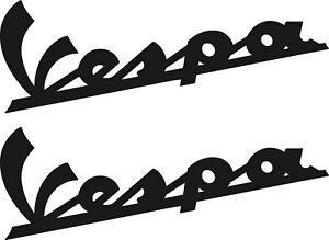 """VESPA  2 Aufkleber 150mm Schriftzug Beinschild """"Vespa""""  38 Farben VE010"""