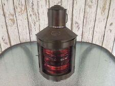 "12"" Metal Port Lantern ~ Ship Oil Lamp ~ Nautical Maritime ~ Boat Light"