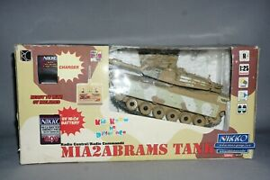 Nikko Radio Controlled M1A2 Abrams 1:25 Scale Tank Desert Camo Boxed 40MHz RC