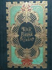 GRANDVILLE Les Fleurs animées Cartonnage Romantique INCONNU DES BIBLIOGRAPHES