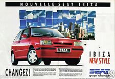 Publicité advertising 1991 (2 pages) Seat Ibiza New Style