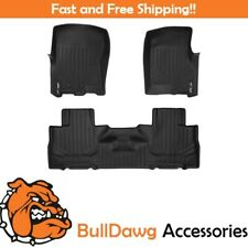SMARTLINER Floor Mats Liner for Ford Expedition / Navigator 2 Row Set (Black)