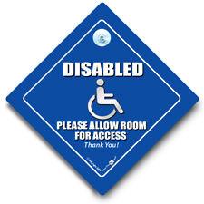 Signo de coche de Acceso Discapacitados, por favor deje, Blue Badge señal, signo de coche de usuario de silla de ruedas