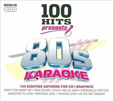 100 Hits Presents: 80's Karaoke by Karaoke (CD, Oct-2009, 5 Discs, DMG)