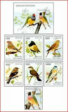 TOG96092 Birds 7 stamps and block