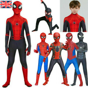 Boys Kids Super Hero Fancy Dress Spiderman Cosplay Costume Child Clothes Outfits