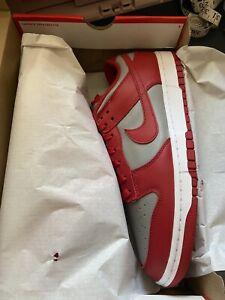 Nike Dunk Low Retro Medium Gray/ Varsity Red UNLV 2021 Size 12