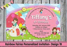 FAIRY PERSONALISED INVITATIONS CARD WOODLAND GARDEN FAIRIES BIRTHDAY PARTY