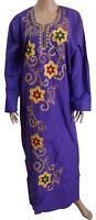 Egypt Cotton Embroidered Kaftan Caftan Dress Jilbab Galabeya Abaya Islamic 439