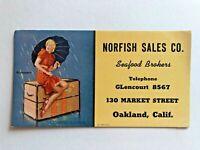 Vintage Pin Up Girl Advertising Blotter by Elvgren- Disturbing elements