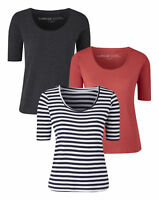 New Simply Be Womens Pack Of  3 Basic T-Shirts