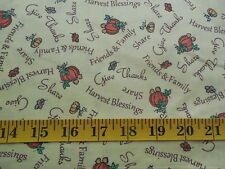 Harvest Blessings Cotton Fabric By The Yard Thanksgiving