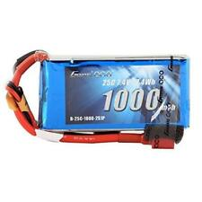 Gens Ace Lipo Battery Pack 1000Mah 7.4V 25C 2S With Deans Plug For Rc Plane Heli