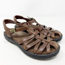 TEVA Vanua Brown Fisherman Leather Closed toe Sport Sandals Womens Size 7