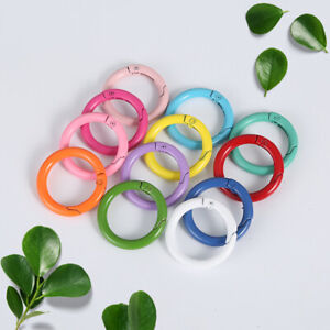 Round Carabiner Keychain Clips Spring Snap Hook Key Ring Buckle Keyring Clasps