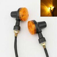 2x Black Turn Signal Light For Yamaha Virago 250 535 700 750 920 1000 1100