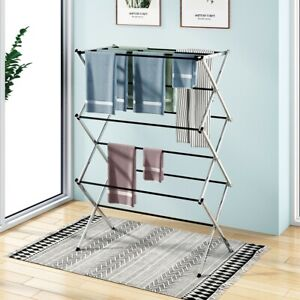 Foldable Drying Rack Extendable Convenient Useful Clothes Dryer For Hang Laundry
