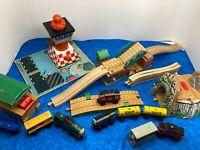THOMAS & FRIENDS TRAIN ENGINE WOODEN RAILWAY WOOD TRAIN BUNDLE TRAINS BRIDGES