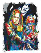 Vocals Gregg Allman 8.5x11 PRINT w//COA Rock Piano The Allman Brothers Band