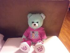 """Build a Bear Thin Mints With Green Plush Bear Girl Scout Cookies 16"""" Tall EXC"""
