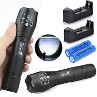 Ultrafire Tactical Flashlight T6 50000lm Zoomable Torch Torch + 18650 Battery