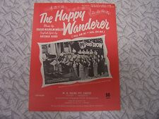 The Happy Wanderer Val De Ri Val De Ra Sheetmusic  English German & Welsh Lyrics