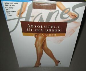 HANES~Size D~707~Barely There Absolutely Ultra Sheer Control Top Pantyhose