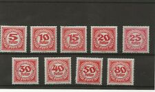Austria Postage Due Stamps Set of 9 mint on Stockcard 1920