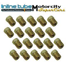 3/8-24 Inverted Flare Gold Zinc Tube Nut Fitting 3/16 Steel Brake Line Tubing 20