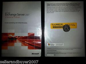 Microsoft Exchange Server 2007 Enterprise, Full Retail, SKU 395-03824, 64-Bit