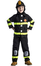 Deluxe Fireman Fire Fighter Firefighter Dress Up Toddler Child Costume Set