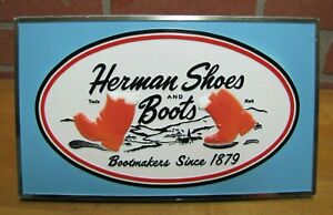 HERMAN SHOES BOOTS Orig Store Display Advertising Sign HOLLIS PRESS NEW YORK NY