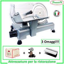 Affettatrice Elettrica Lusso 195 GL RGV Grigia + Affilatoio + Copertura + Pinza