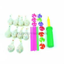 10 Stuffed Balloons Kit with Pump Wedding Birthday Decorations Party Bag Filler